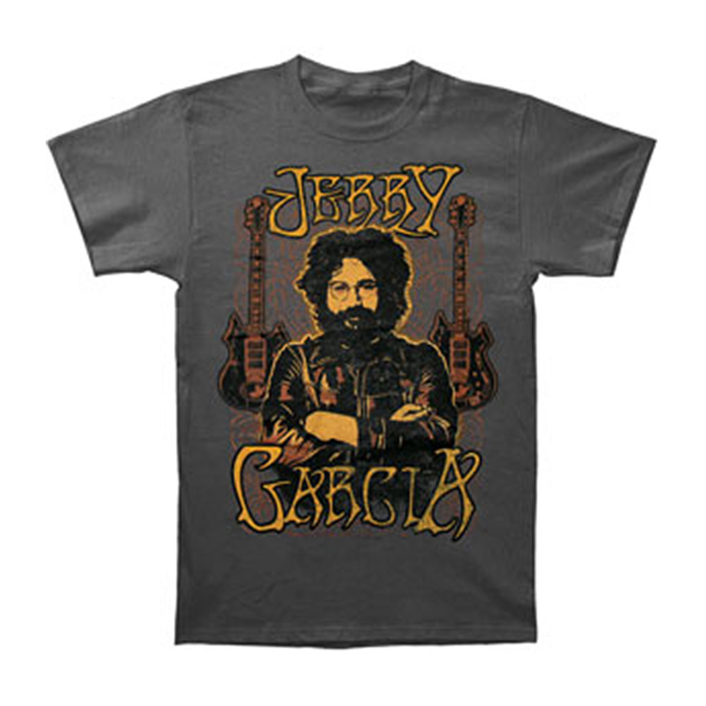 Jerry Garcia Men's  Guitars T-shirt Grey