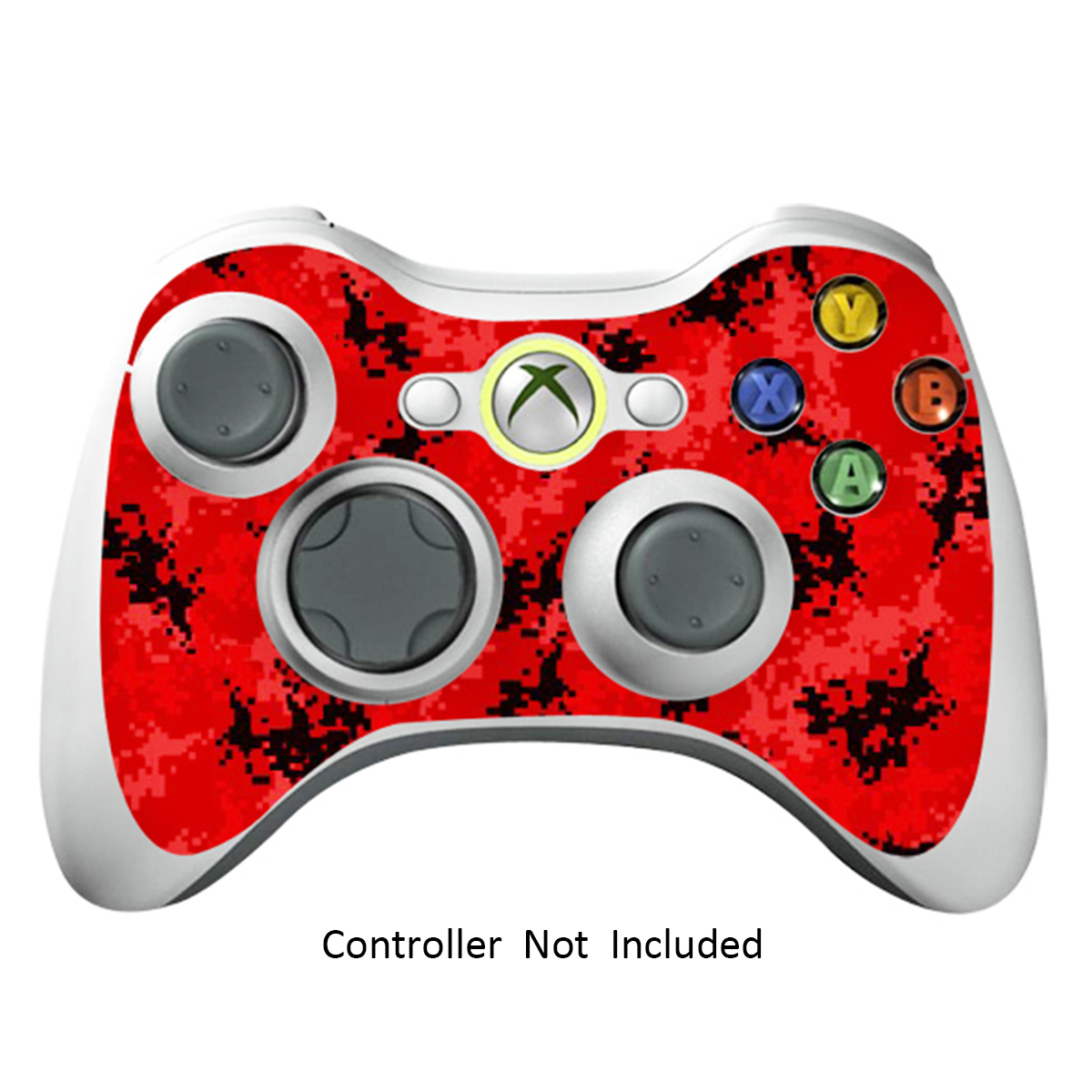 Skin Stickers for Xbox 360 Controller - Vinyl High Gloss Sticker for X360 Slim Wired Wireless Game Controllers - Protectors Stickers Controller Decal - Digicamo Red