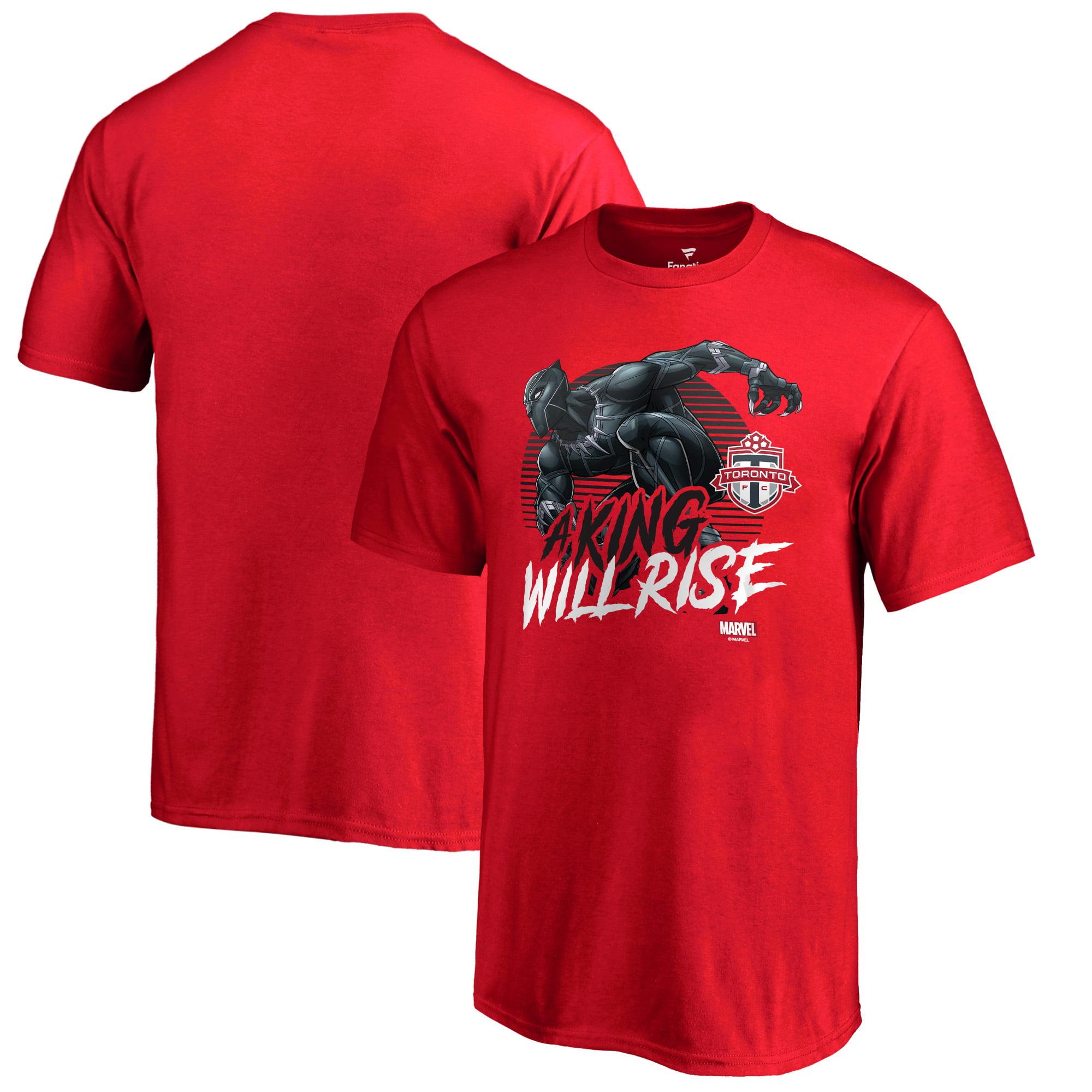 Toronto FC Fanatics Branded Youth Marvel Wakanda Forever T-Shirt - Red