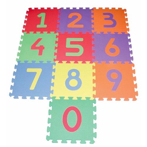 Edushape - Foam Tile Numbers, 10 pack