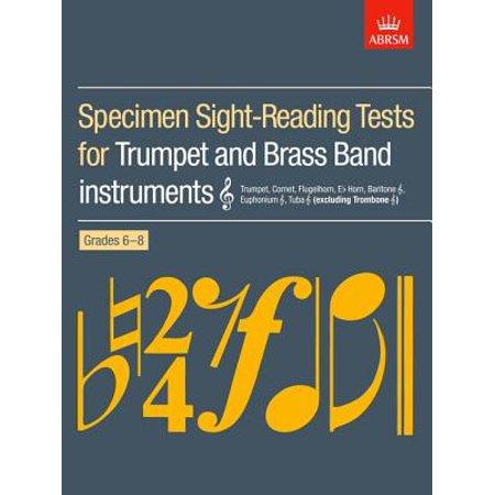- Specimen Sight-Reading Tests for Trumpet and Brass Band Instruments [Treble Clef] : (Excluding Trombone [Treble Clef]): Trumpet, Cornet, Flugelhorn, E(c) Horn, Baritone [Treble Clef], Euphonium [Treble Clef], Tuba [Treble Clef]