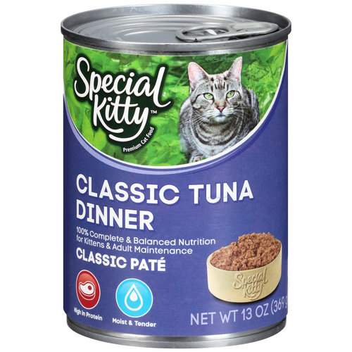 Special Kitty Classic Tuna Dinner Wet Cat Food, 13-Ounce