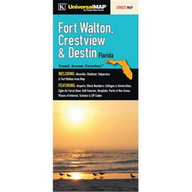 Map Of Destin Florida.Universal Map 11742 Fort Walton Beach 44 Crestview And Destin 44