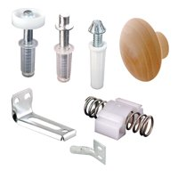 Bi-Fold Door Repair Kit, For 7/8 in. Wide Track, Used with 3/8 in. Outside Diameter Pivots and Guides