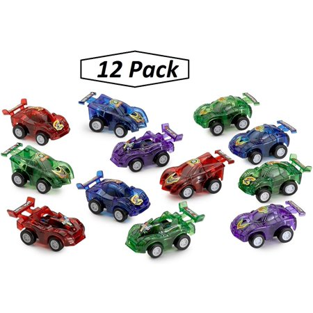 Friction PullBack Car Assortment – 12 Pack 2.5 Inches Assorted Colors - Cool And Fun - Push And Go Cars – Toys, Party Favors, Gifts – By - Cool Toy Cars