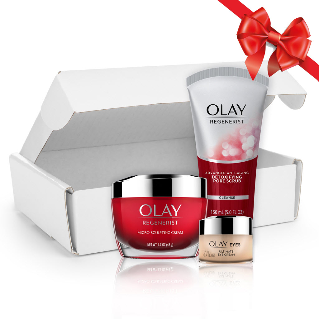 Olay Anti-Aging Skincare Kit: Cleanser, Moisturizer, and Eye Cream ($56 Value)
