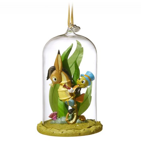 Jiminy Cricket Christmas (Disney 2018 Jiminy Cricket Glass Dome Sketchbook Christmas Ornament New with Tag)