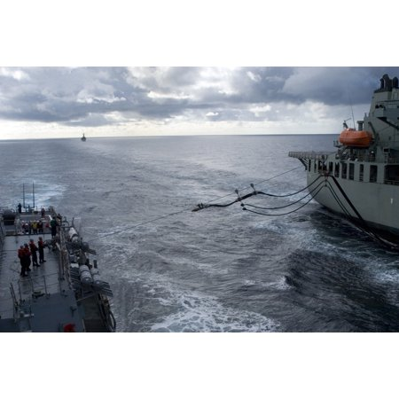 LAMINATED POSTER Australian Navy ship AORH Sirius (O 266) sends a fuel line to guided-missile destroyer USS John S. M Poster Print 24 x (Best Australian Gifts To Send Overseas)