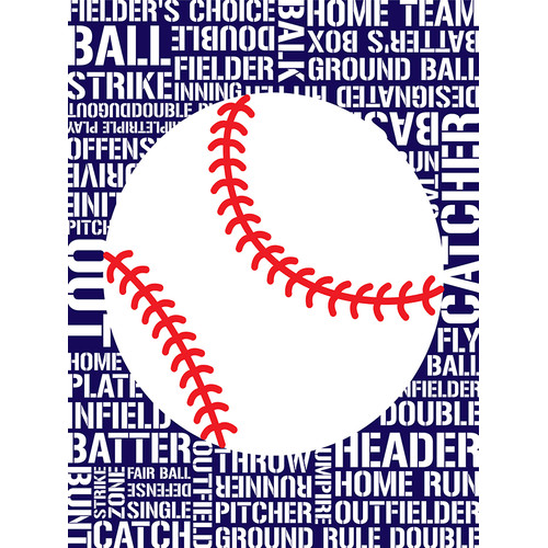Buy Art For Less Sports - Baseball Typography by Tenisha Graphic Art on Canvas