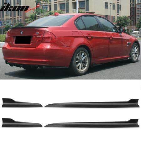 Door Rocker Panel - Fits 06-08 BMW E90 3 Series Sedan 4 Door Side Skirts Rocker Panels 4PCS (PP)
