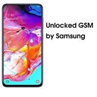 SAMSUNG Galaxy A70 A705M, 128GB, GSM Unlocked Dual SIM  Blue