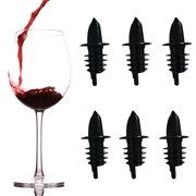 6pk Bar Pro Bottle Pourers Wine Spouts Liquor Stoppers Alcohol Oil Covers Bar