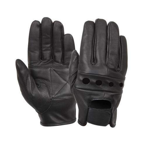 Rothco Black Leather Motorcycle Gloves Large