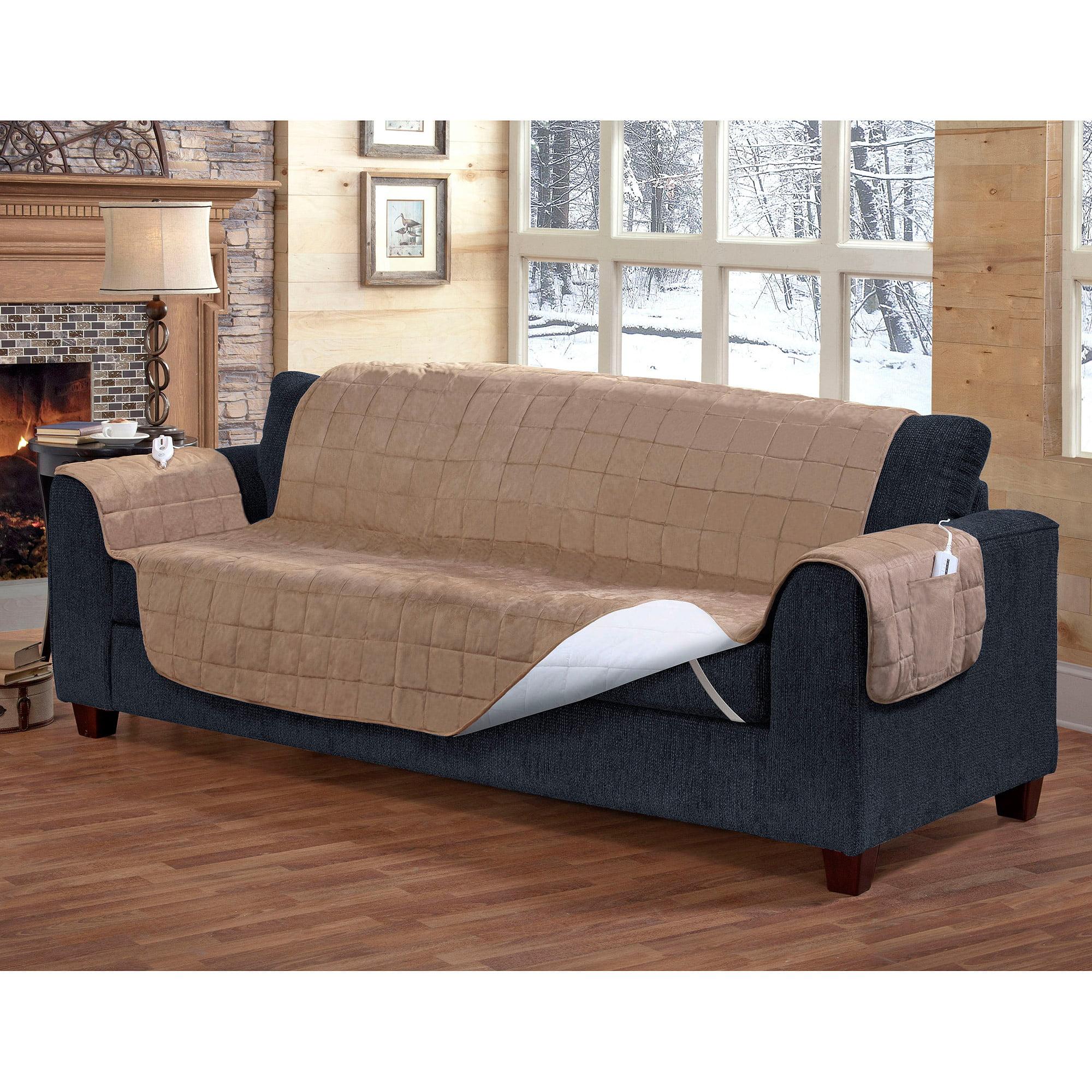 Serta Heated Sofa Protector   Walmart.com