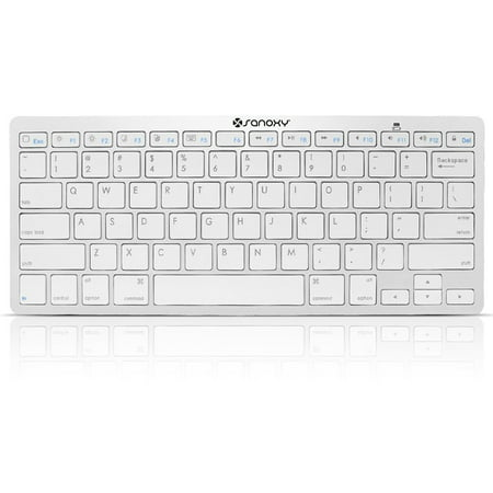 SANOXY Ultra Slim Profile Wireless Bluetooth Keyboard for iOS, Android, Windows and Mac (SILVER) (Bamboo Keyboard Mac)