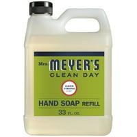 Mrs. Meyer's Clean Day Liquid Hand Soap Refill, Lemon Verbena, 33 fl oz