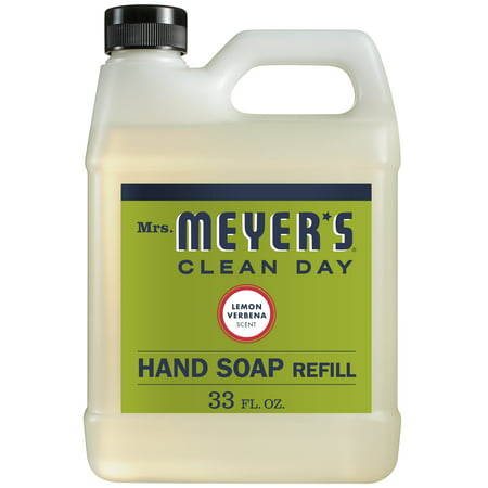 Organic Hand Soap ((2 pack) Mrs. Meyer's Clean Day Hand Soap Refill, Lemon Verbena, 33 fl oz)