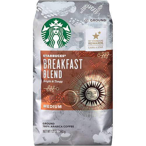 Starbucks Breakfast Blend Ground Coffee, 12 oz