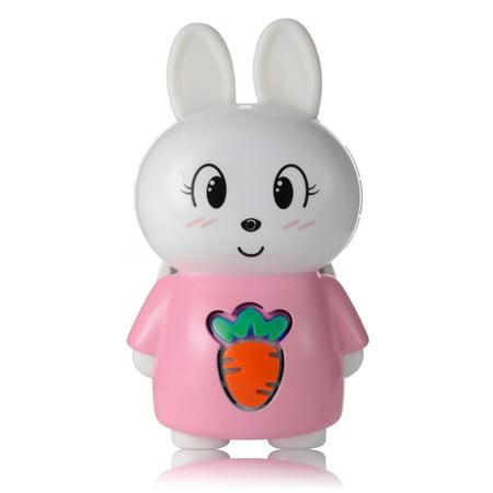AGPTEK S1 8GB Bluetooth Bunny Storytelling for Kids,Wearable Children  Digital Player, Pink