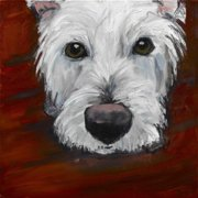 """Marmont Hill """"Red Dash"""" by Tori Campisi Painting Print on Canvas"""