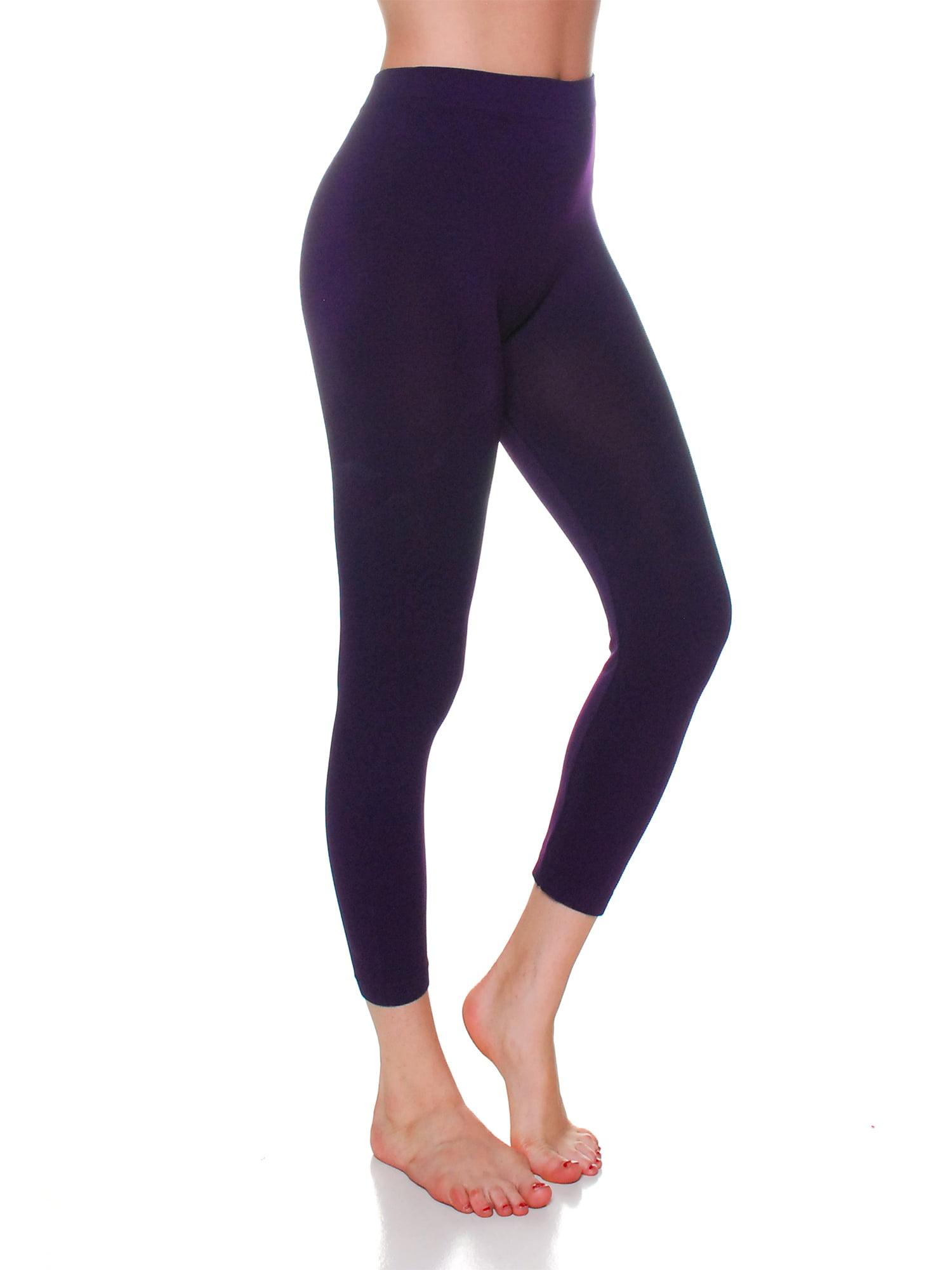 Essential Basic Women Active Athletic Capri Calf Seamless Legging, Junior - Plus Sizes