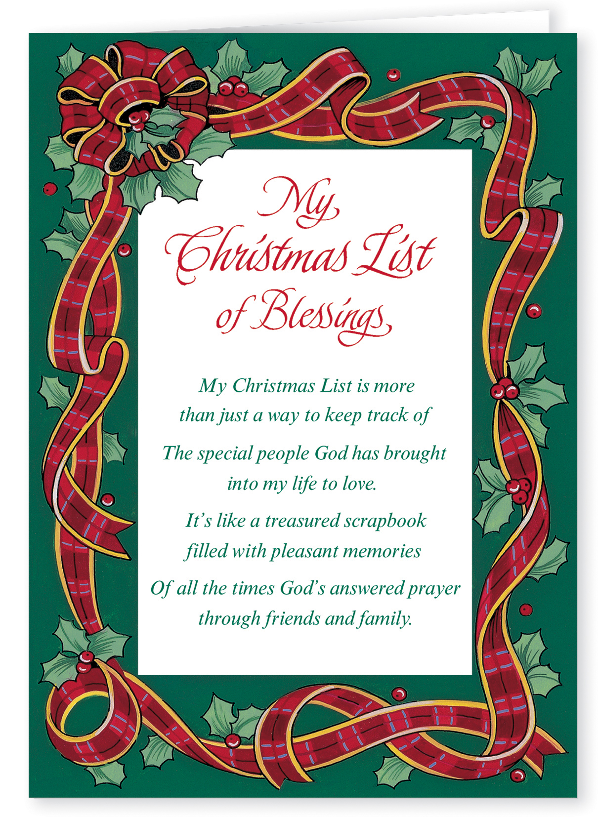 My Christmas List Christmas Card Set Of 20 Walmart