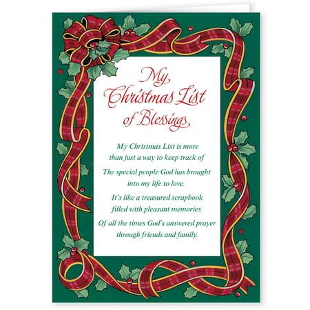 My Christmas List Christmas Card Set of 20 - Tinkerbell Christmas Cards