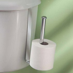InterDesign Classico Over-The-Tank Tissue Holder, Chrome - Walmart.com