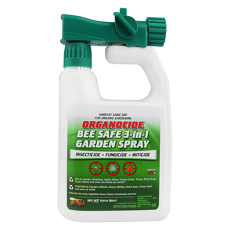 Organocide® 3-in-1 Organic Pest Control Garden Spray Concentrate, 1 QT  Hose-End - Walmart.com