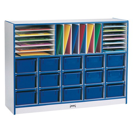 Jonti-Craft Rainbow Accents  Sectional Tray Portable 35 Compartment Cubby with (Sectional Mobile Cubby)