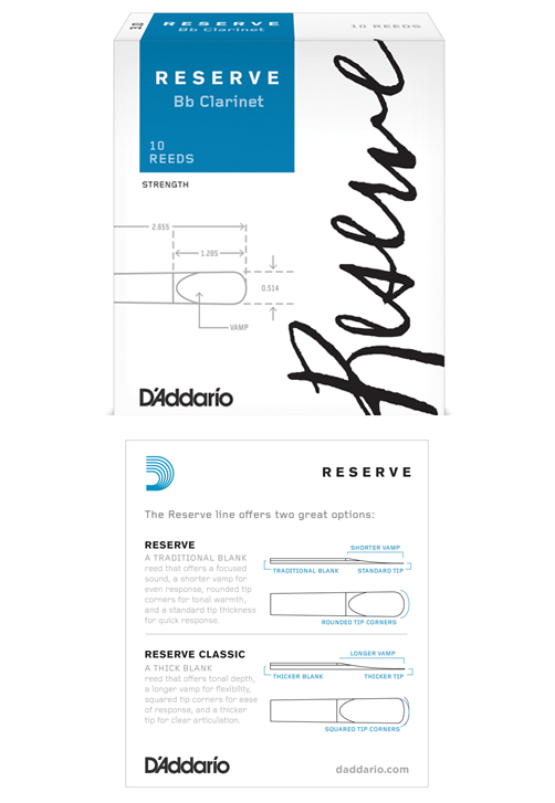 D'Addario Reserve Bb Clarinet Reeds, Strength 3.0, 10-pack by D'Addario