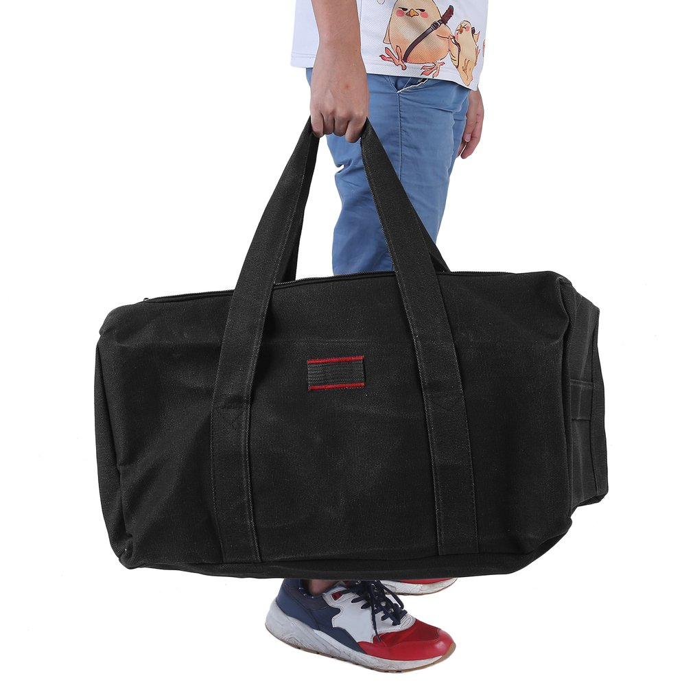 Black Large Capacity Casual Men bags Military Canvas Gym Duffle Shoulder Bag for men Zipper Luggage Handbags For Travel... by musiccrazyor@gmail.com