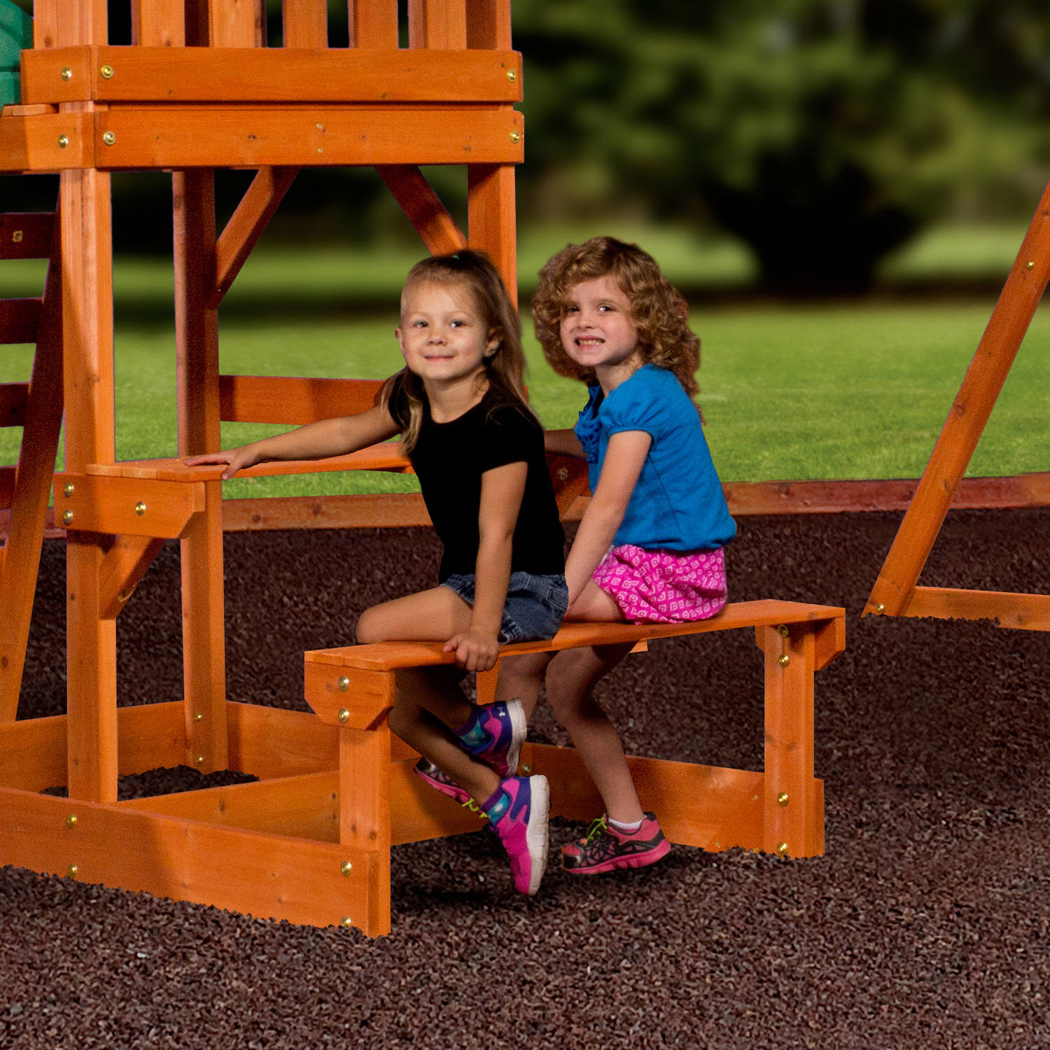 1207446b78b1 Kids Backyard Playground Discovery Tucson Cedar Wooden Swing Set   Slide