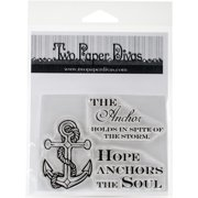 Two Paper Divas Clear Stamps 6 Inch X 4.5 Inch-Anchors The Soul