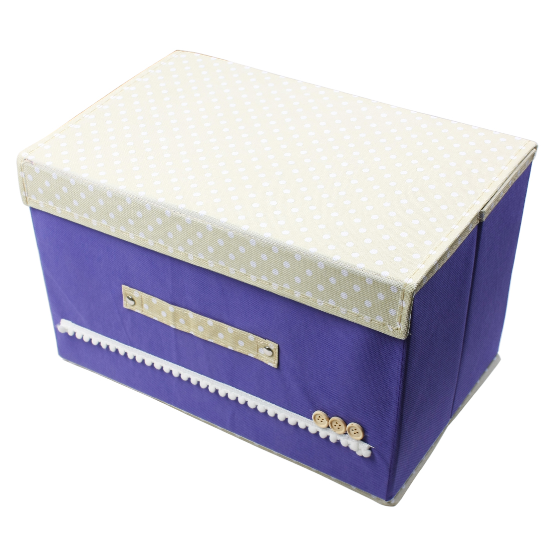Foldable Makeup Cosmetic Storage Box Underwear Socks Case Organizer Purple