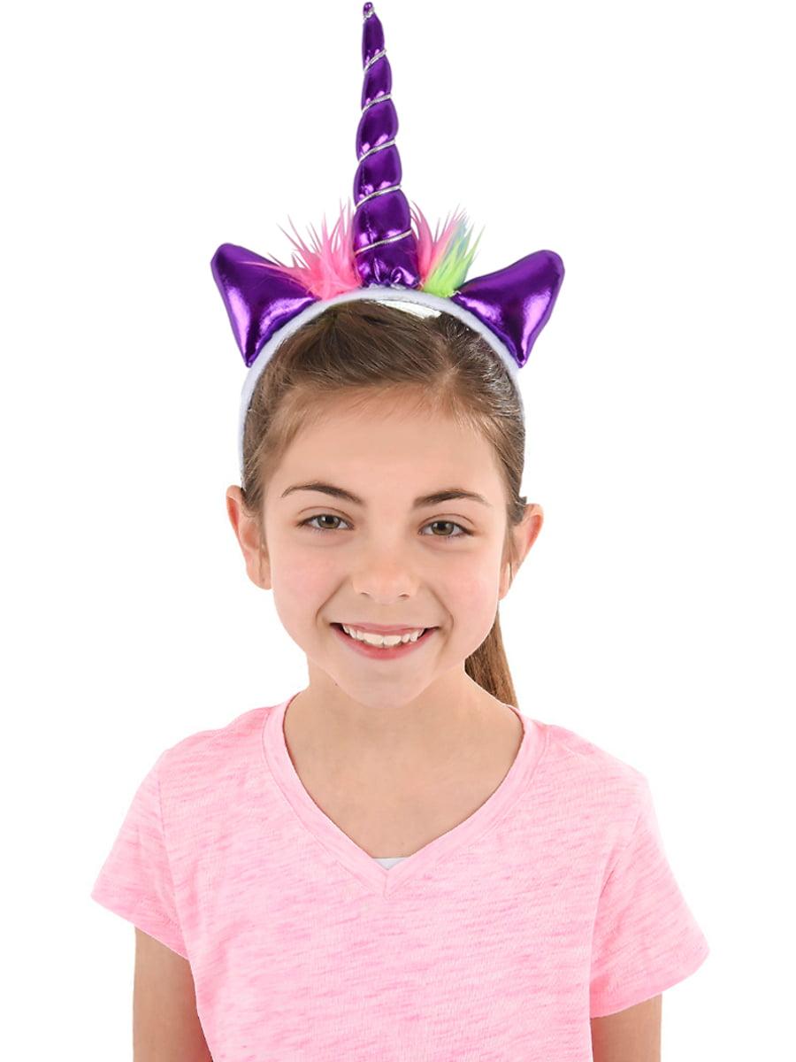Soft Plush Purple Mystical Magical Unicorn Horn Headband Costume Accessory  - Walmart.com 58299df9767