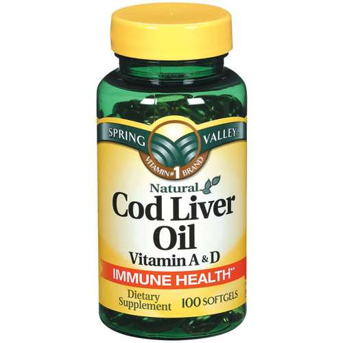 Spring Valley Cod Liver Oil Supplement, 100ct