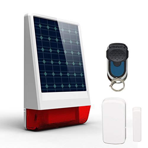 ERAY Outdoor Solar Power Siren Alarm System for Safety JD...
