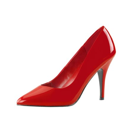 4 Inch Womens Sexy Shoes Wear To Work Shoes Classic Pump Shoes Red Patent ()