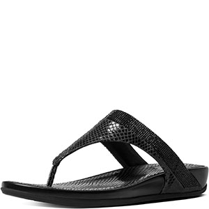 3d10591c8b136a ... fitflop women s banda crystal snake toe post black sandal 11 m ...