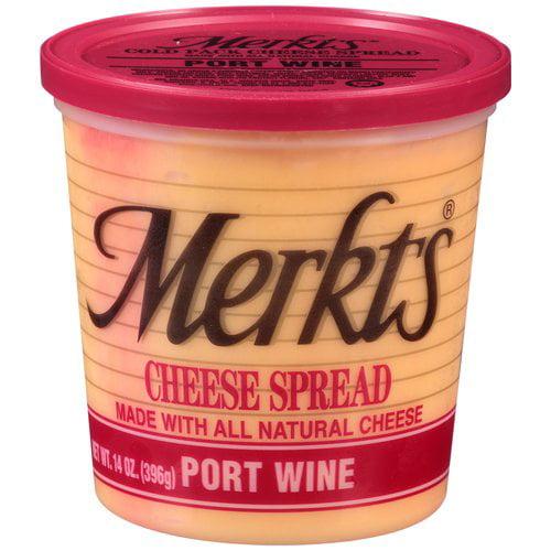Merkts Port Wine Natural Cheese Cheese Spread, 14 oz