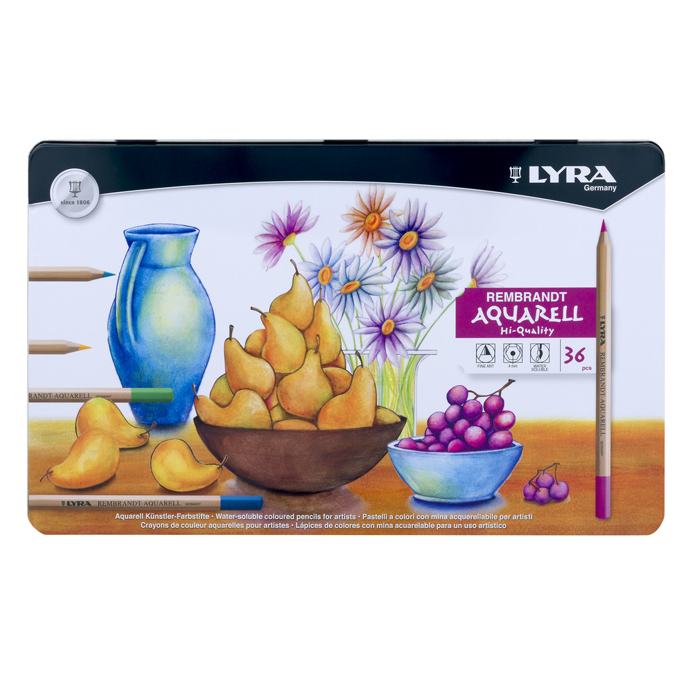 Lyra Rembrandt Aquarell Water-Soluble Coloured Pencils - 36 PC, 36.0 PIECE(S)