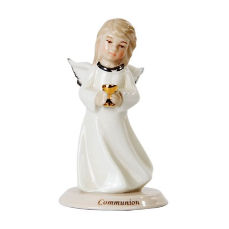 """Communion Little Angel Girl Religious Statue Fine Porcelain Figurine, 4"""" H, Perfect gift for those that love angel By Pacific Giftware"""