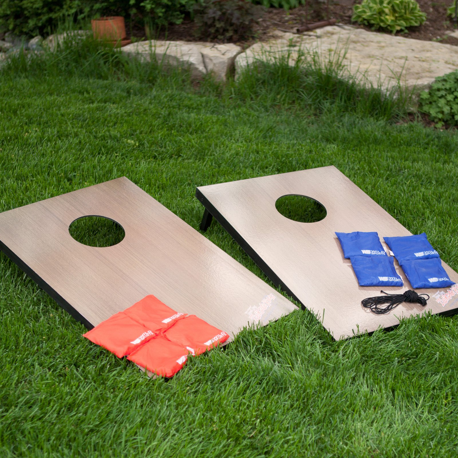 Wild Sports Tailgate Toss Cornhole Set Walnut by Wild Sales LLC