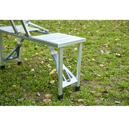 Moustache Aluminum Foldable Picnic Table with 4 Seats - image 7 of 9