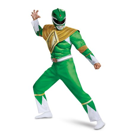 Power Rangers - Mighty Morphin Green Ranger Classic Muscle Adult Halloween Costume