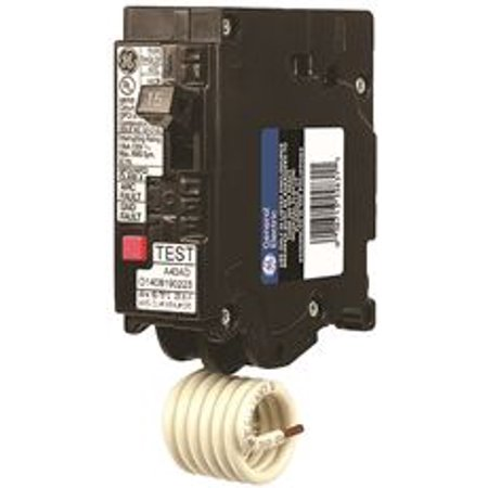 Ge Single-Pole Dual Function Plug-In Afci/Gfci Circuit Breaker, 120 Vac, 20 Amp, 10