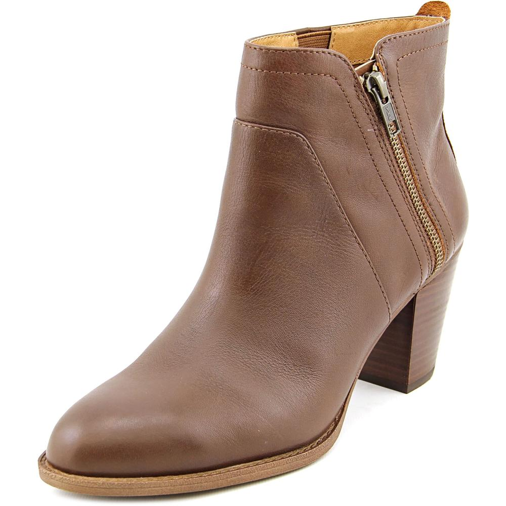 Sofft Oakes Women Round Toe Leather Brown Ankle Boot by Sofft