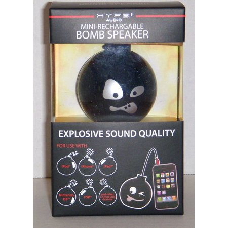 - Hype Bomb Rechargeable Mini Portable Keychain Speaker w/ 3.5mm audio jack, Shaped like a bomb with cute designs to choose from, you'll always be ready to get a party.., By DGL