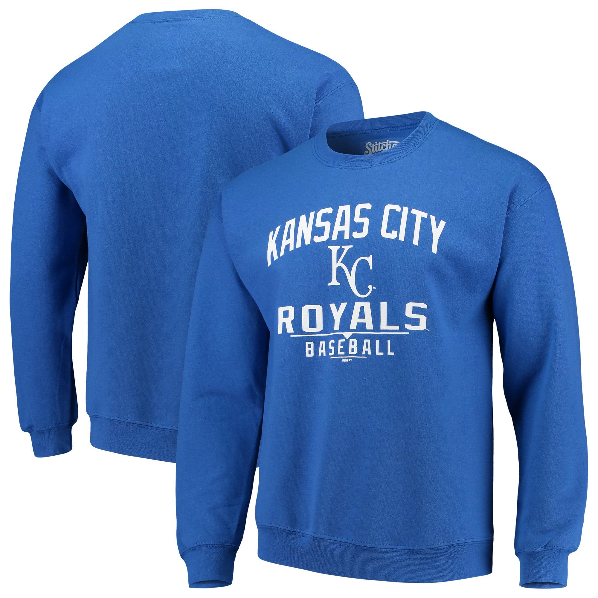 Kansas City Royals Stitches Holiday Pullover Crew Sweatshirt - Royal